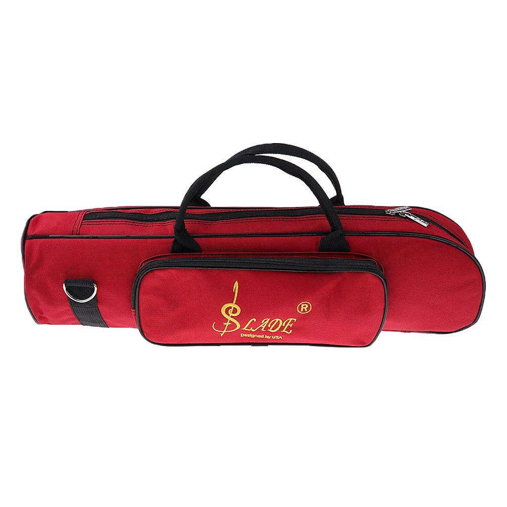Padded Trumpet Storage Case Handbag Shoulder Bag Wine Red