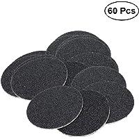 SUPVOX 60PCS Reemplazo de Papel de Lija Discos de Pastillas para Herramienta de eliminación de callo de Archivo de pie electrónico (Especificación 100)