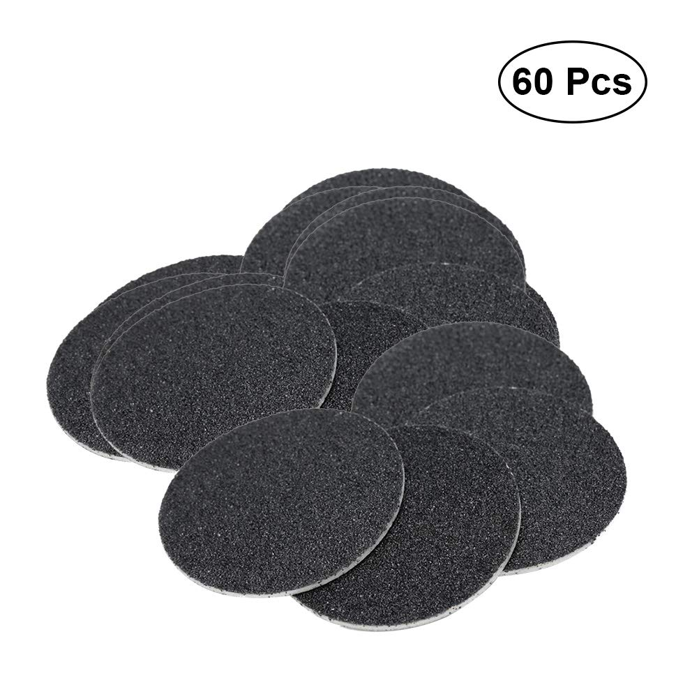 SUPVOX 60PCS Replacement Sandpaper Discs Pads for Electronic Foot File Callus Remover Tool (Specification 100)