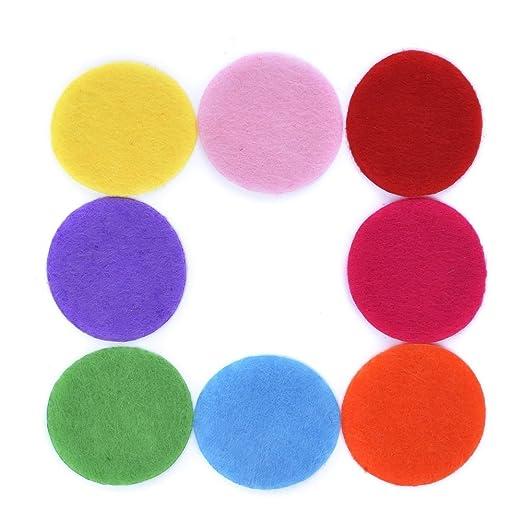 100 piezas de varios colores Círculos de fieltro almohadillas de fieltro para DIY Costura y artesanías, 1.18 pulgadas: Amazon.es: Hogar