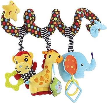 BulzEU Bébé Spirale Poussette Jouet Peluche Singe Girafe l