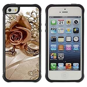 Suave TPU GEL Carcasa Funda Silicona Blando Estuche Caso de protección (para) Apple Iphone 5 / 5S / CECELL Phone case / / Rings and Roses /