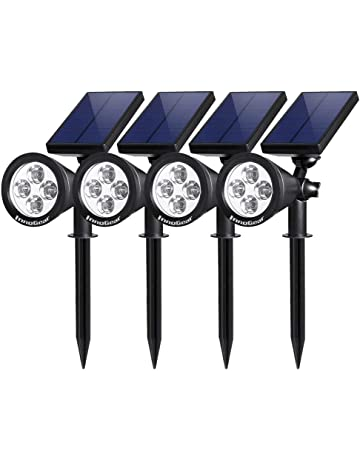 6df5a7cd279 InnoGear Upgraded Solar Lights 2-in-1 Waterproof Outdoor Landscape Lighting  Spotlight Wall Light