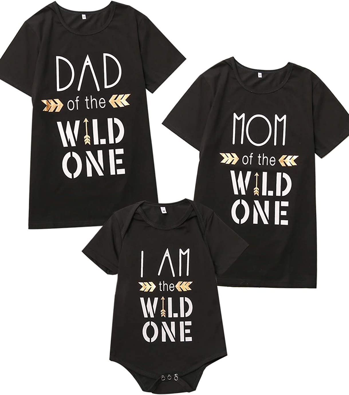 Catpapa Wild One Dad Mum Son Daughter Family Playera a Juego