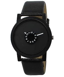 New Raiyaraj Embroidery Analogue Black Dial Leather Belt Men's Watch