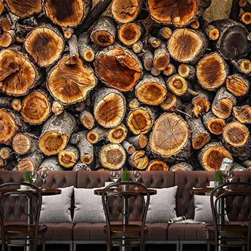 (GMYANBZ Custom Wall Mural Photo Wallpaper Vintage 3D Wood Annual Ring Wood Grain Living Room Restaurant Wall Decor Art)