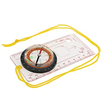 Amazon.com: Alotm Map Scale Compass with Neck Strap, Multifunctional ...