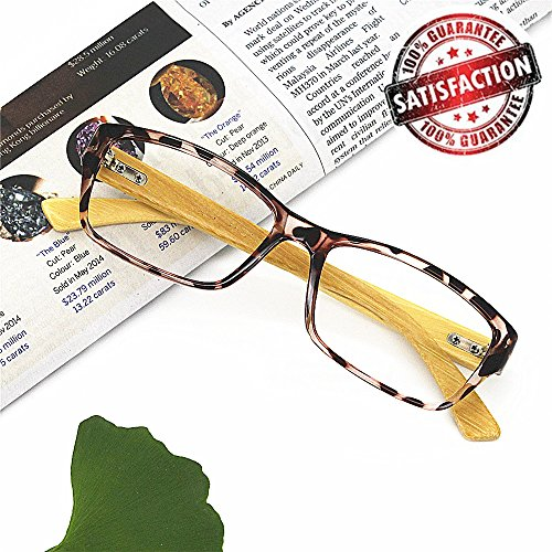 Bamboo Reading Glasses 7.0 - EyeYee 2017 New Comfortable Fit Glasses for Women Men High Magnification Light Tortoise Readers Anti Glare Anti Eye - Prescription Fashion Glasses 2017