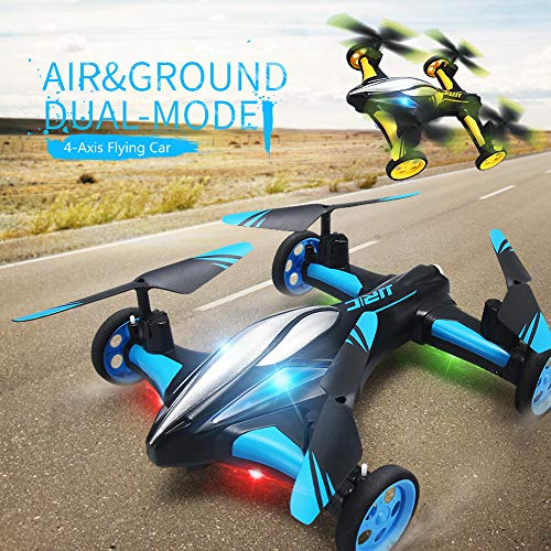 (LtrottedJ Flying Cars Quadcopter Car Remote Control Car and RC Quadcopter Remote Control D (Bule))