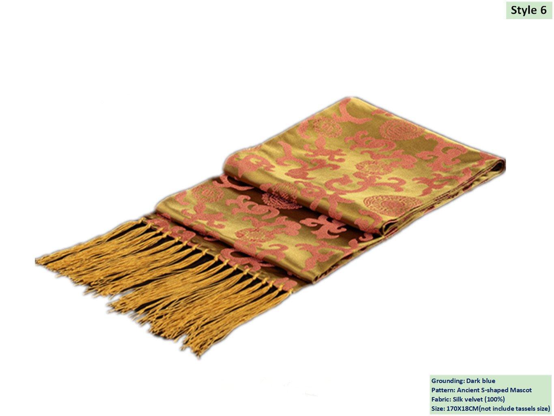 100% Silk Velvet Brocade Scarves Men's Scarves Gifts Handicrafts Shawls
