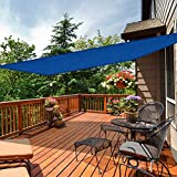 """iCOVER Sun Shade Sail 13' x 19'6"""" Rectangle Canopy, 185GSM Fabric Permeable Pergolas Top Cover, for Outdoor Patio Lawn Garden Backyard Awning, Beige"""