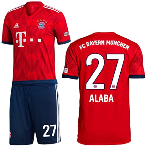 964a7c0cb5d7f6 adidas FCB FC Bayern München Set Home Heimset 2018 2019 Kinder Alaba 27 Gr  164
