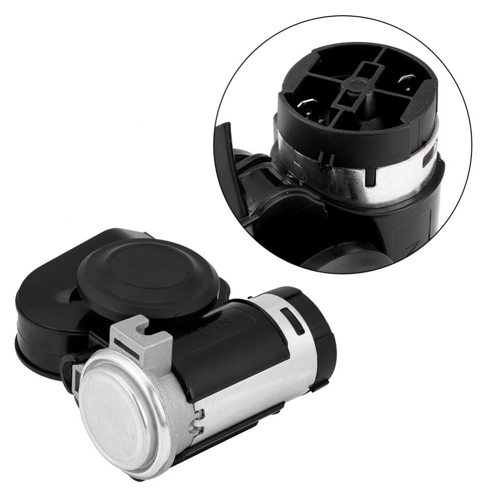 KIMISS 12V Universal Motorcycle Car Refit Super Sound Integrated Compact Snail Air Horn W//Relay