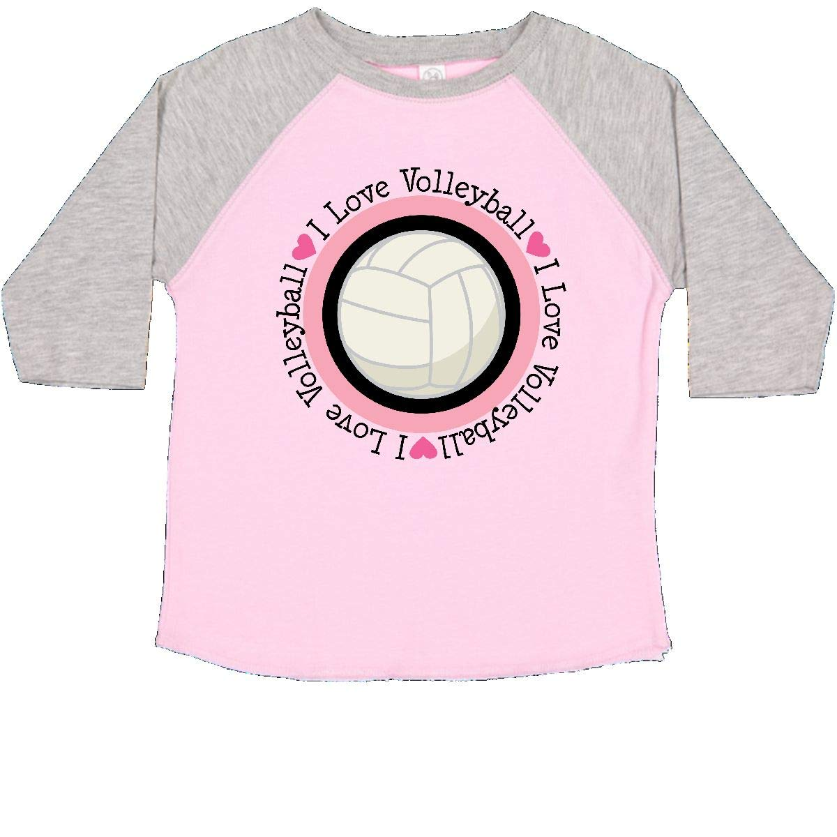 inktastic I Love Volleyball Sports Toddler T-Shirt