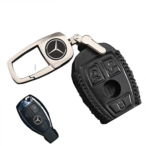 QZS Mercedes Benz Key Chain Fob Cover Shell Remote Case Bag Black For E C R  CL GL