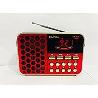 Rádio Retro portatil Digital Fm Mp3 Vintage Recarregavel Usb Sd