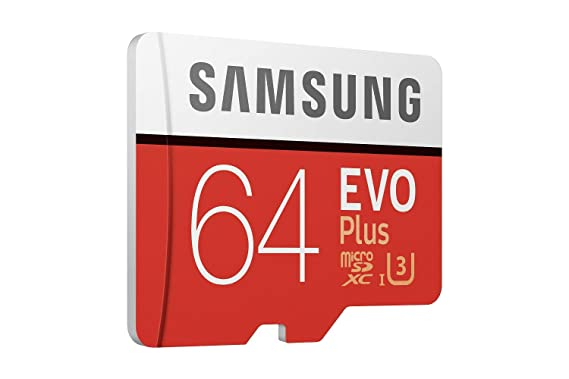 Samsung EVO Plus Grade 3, Class 10 64GB MicroSDXC 100 MB/S Memory Card with SD Adapter (MB-MC64GA/IN) Micro SD Cards at amazon