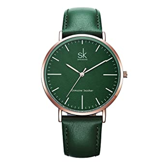SHENGKE Genuine Leather Ultra Thin Women Watches 2018 Women Quartz Watch Elegant Dress Ladies Watch K0082L