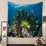 Lee S. Jones Custom tapestry a colorful crinoid clings to a shallow reef in indonesia this part of the tropical pacific harbors