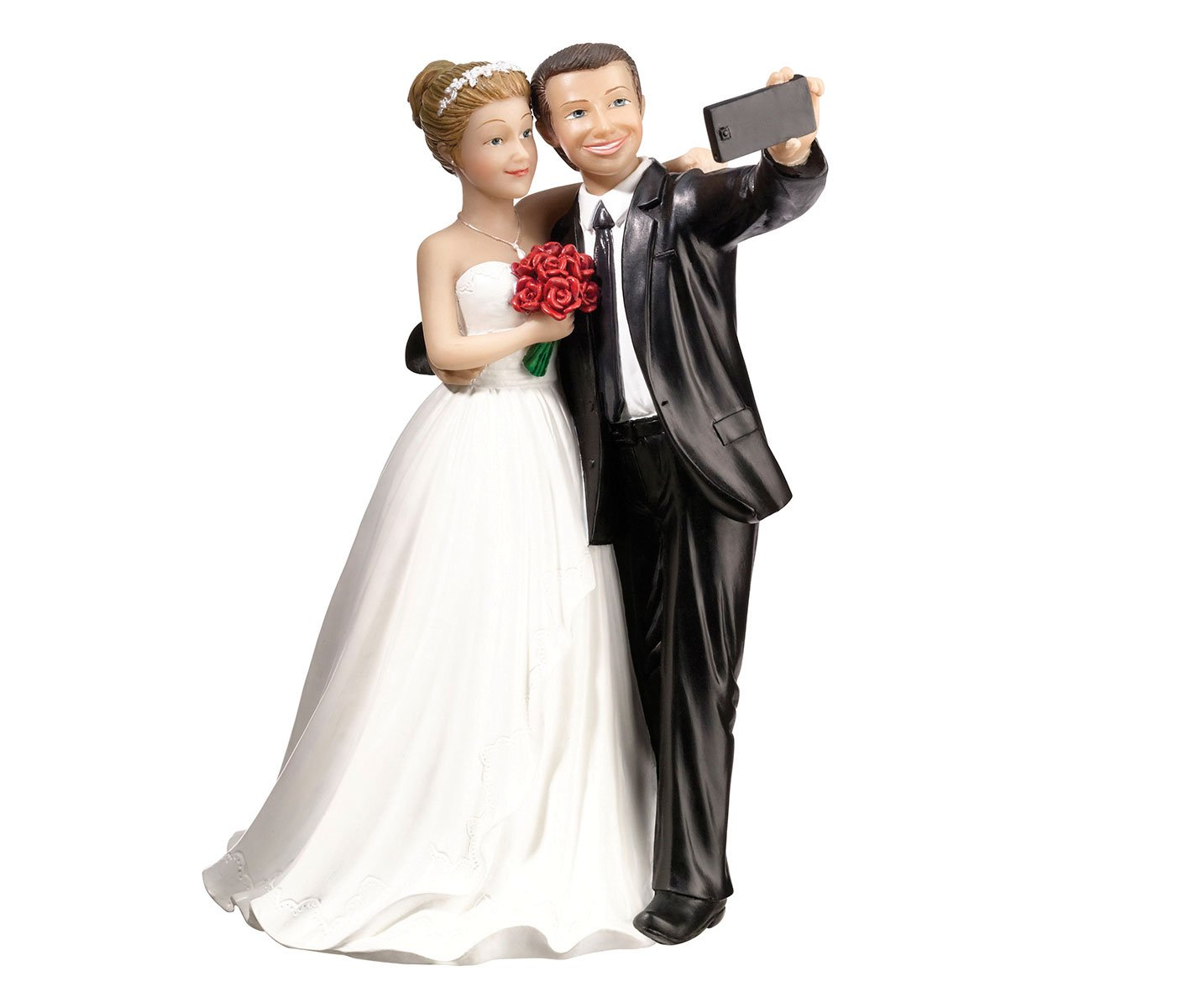 Lillian Rose Funny Selfie Bride & Groom Wedding Cake Topper