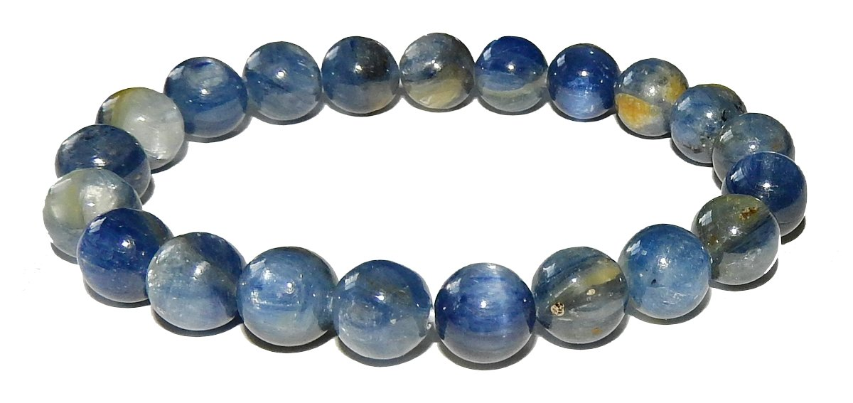 10mm Blue Kyanite Bracelet 02 Grade A Natural Spiritual Healing Crystal Energy (Gift Box) (6.75 Inches)