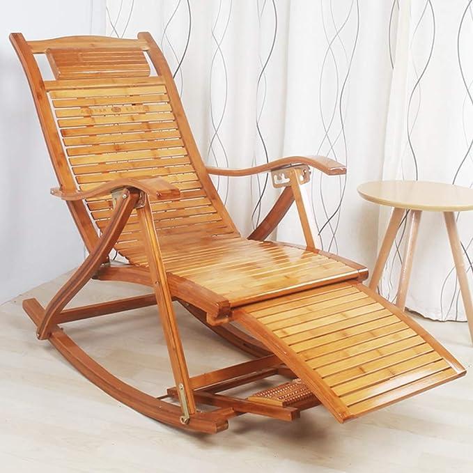 Amazon.com: Sillas de madera para balanceo cómodo reclinable ...