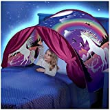 Simplefirst Foldable Children's Star Tent Pop Up Bed Tent Fairy Playhouse Unicorn Dream Tent Best Festival Decoration Tent For Kids (Unicorn)