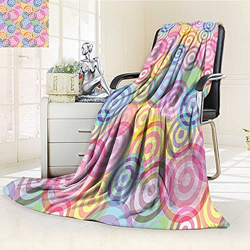 AmaPark Digital Printing Blanket Circles Rounds inColorsDesign with Background Summer Quilt Comforter