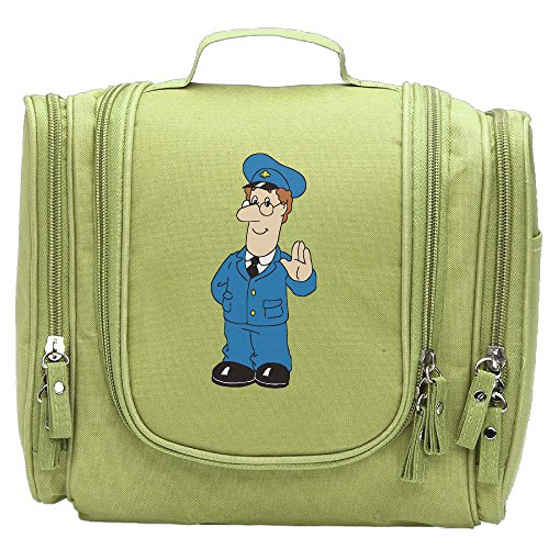Women's Cartoon Postman Makeup Organizer / Cosmetic Bag / Toiletry Bag / Hanging Travel Toiletry Organizer KellyGreen (Sims 3 Halloween Makeup)