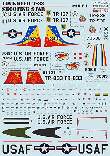 """DECAL FOR AIRPLANE LOCKHEED T-33 """"SHOOTING STAR"""" PART for sale  Delivered anywhere in USA"""