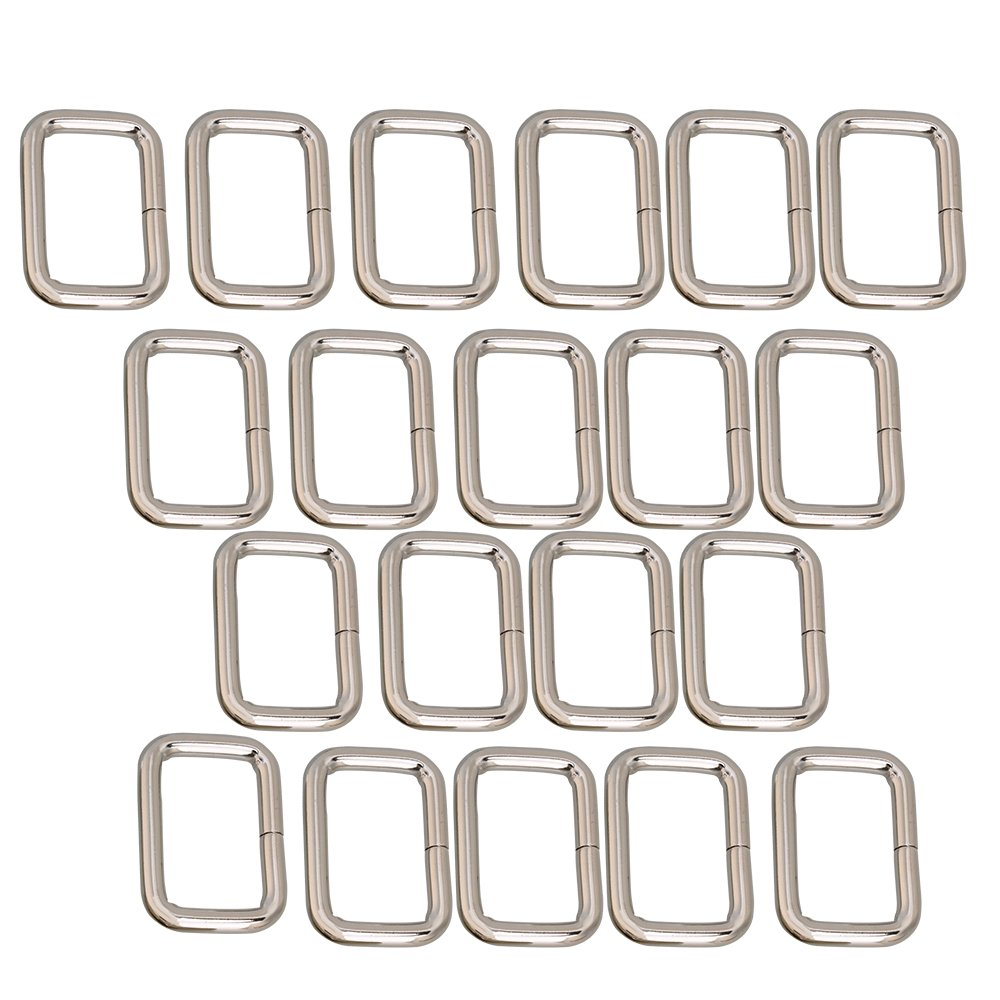 20pcs Metal Bag Purse Snap Hook 25mm Rectangle Rings Webbing Belts Buckle RDEXPAM B953