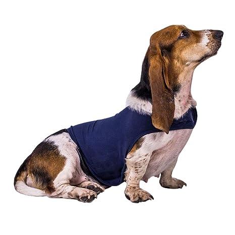 YUENA CARE Camiseta Antiansiedad para Perro Chaleco Abrigo para Calmar la Ansiedad Apaciguar Emoción de Miedo