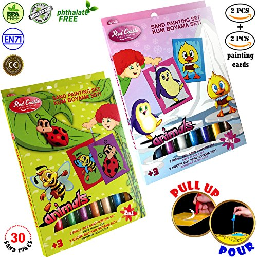Red Castle New in USA.. The Most Famous Sand Art Kits for Kids in All Europe Sand Painting Art Kits, Colored Sand Painting, DIY Learning Craft Kit - Economy Kits (Ladybird-Chick)