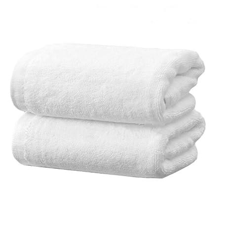 Paquete de 2, blanco, 100% algodón, toalla para la cara, toalla