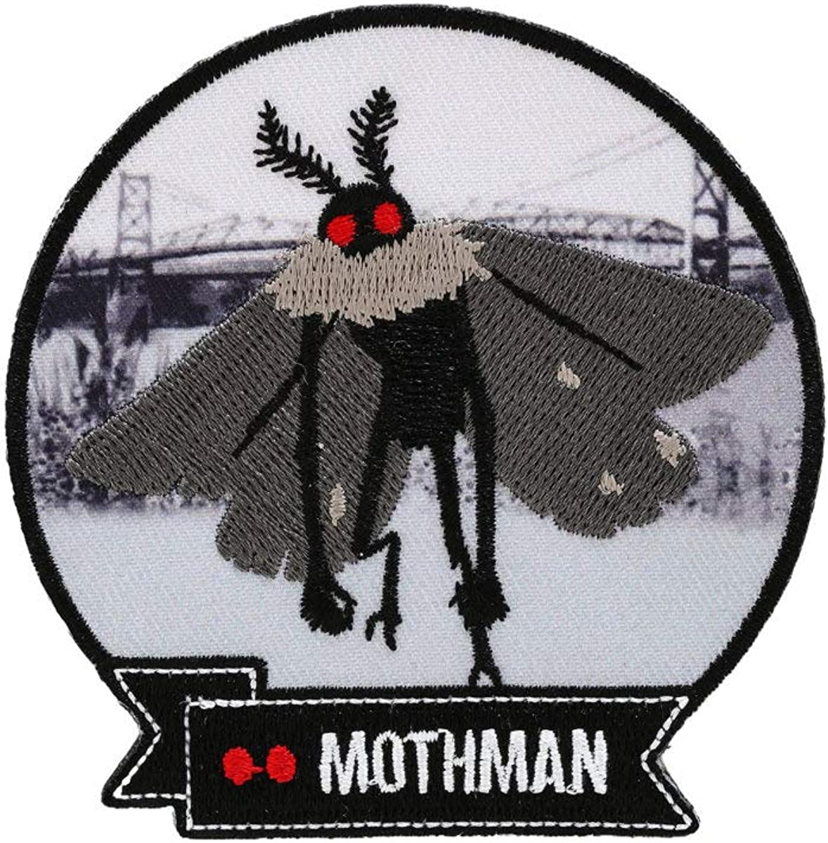 Cryptid Style Mothman Patch High Quality Shiny Iron on patch.