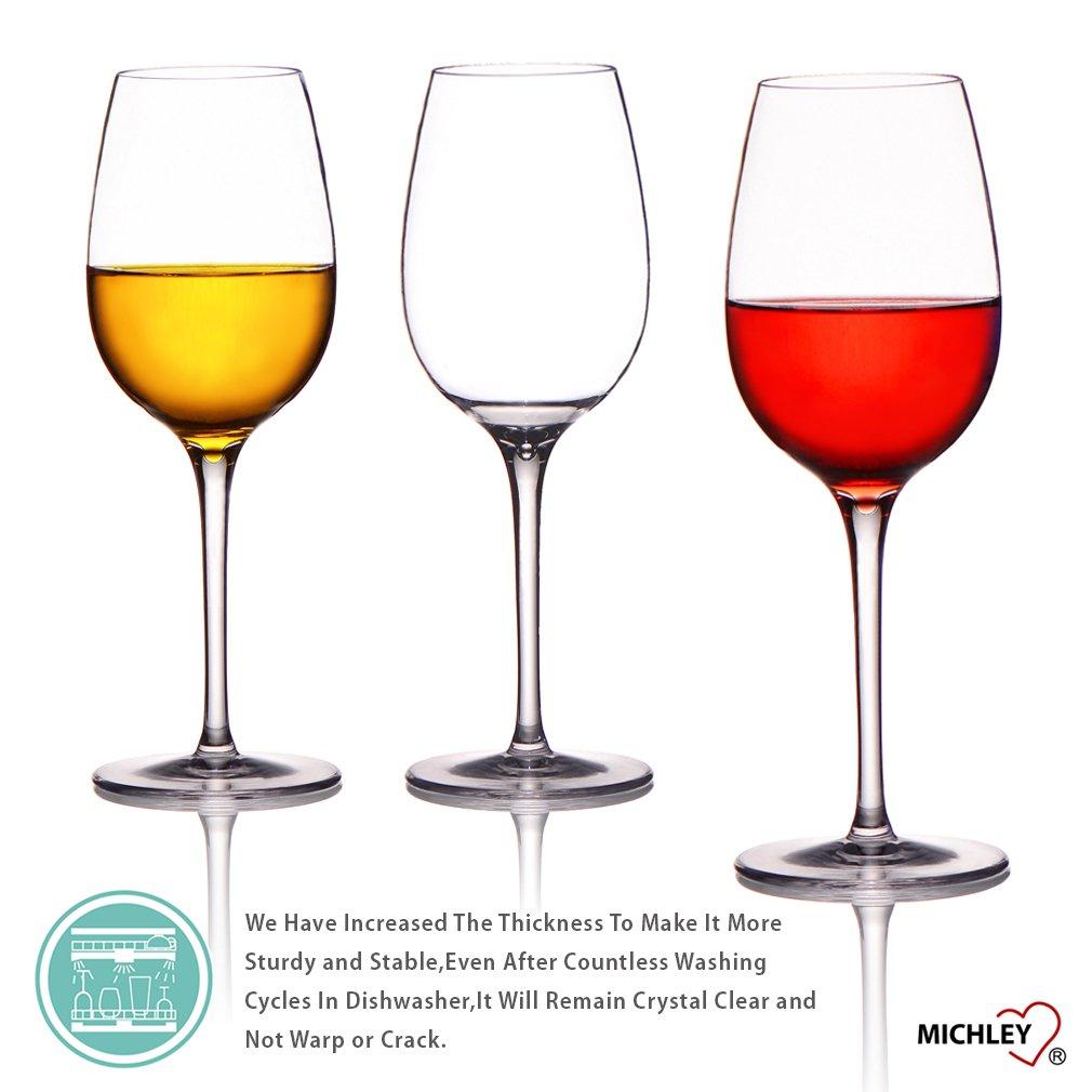 Best Dishwasher For Wine Glasses Amazoncom Michley Unbreakable Wine Glasses 100 Tritan Plastic