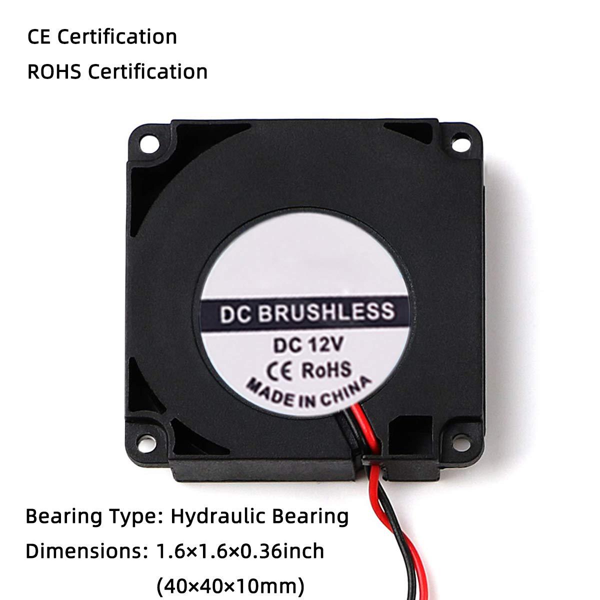 Ventilador de refrigeración sin escobillas DC 4010 12 V 0,08 A ...