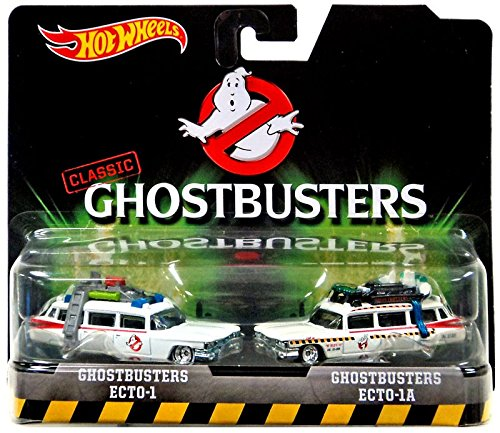 Hot Wheels, Classic Ghostbusters Ecto-1 and Ecto-1A Die-Cast Vehicle 2-pack DVG08