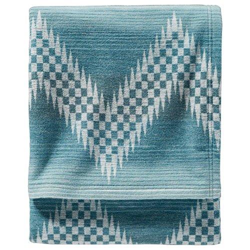 Pendleton Willow Basket Organic Cotton Blanket, River, Queen ()