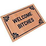 """Welcome Bitches - Funny Doormats Personalized Durable Machine-washable Indoor/outdoor Door Mat 23.6""""(L) x 15.7""""(W) Inch"""