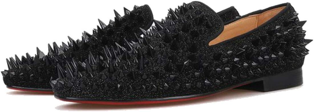 FERUCCI Men Black Spikes Slippers