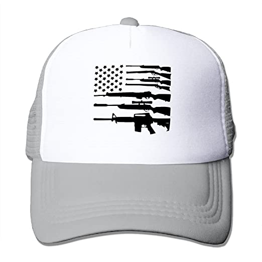 16513555281 Gun American Flag Fashion Snapback Hats at Amazon Men s Clothing store