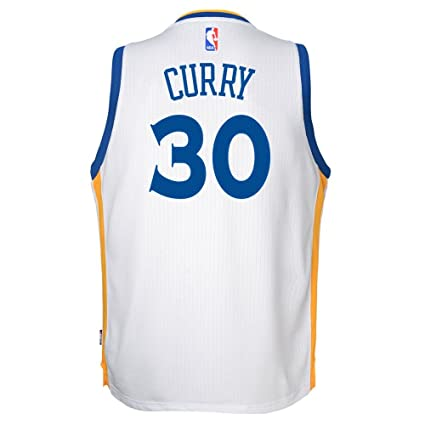 e4443622d9d Adidas Golden State Warriors Curry Swingman Home NBA Fan Basketball Jersey  - White - Youth Kids