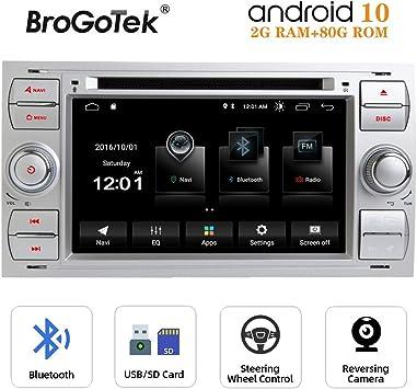 Radio Android 10.0 Coche Autoradio para Ford Fiesta Fusion Transit ...