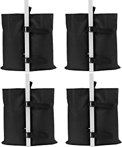 Industrial Grade Weights Bag Leg Weights for Pop up Canopy Tent, Patio Umbrella, Outdoor Furniture, no Sand Leakage, Good Sealing Performance(4pcs-Pack