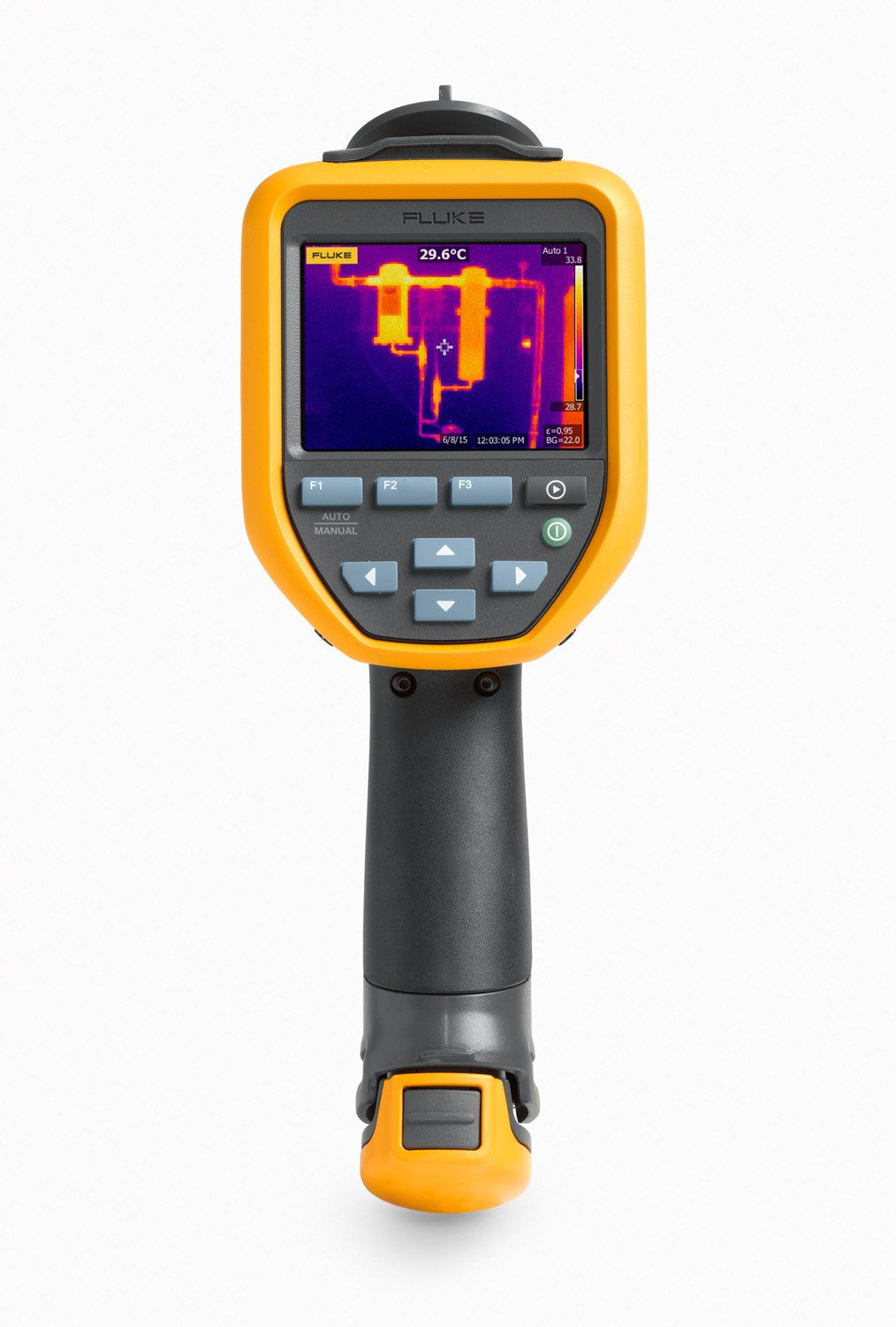 Fluke FLK-TIS50 9HZ Thermal Infrared Camera with IR-Fusion, Picture-in-Picture, Voice Annotations, Color Alarms, 3.5'' LCD, Fixed Focus, 220x165 Resolution