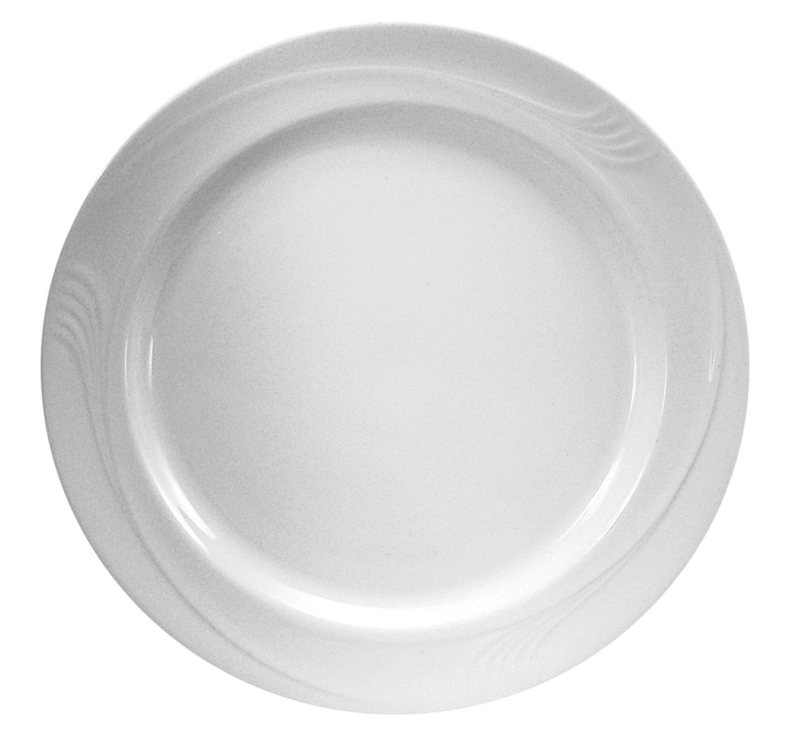 Oneida Foodservice F1040000149 Espree Plate, 10.25'', Cream White Porcelain, Set of 12