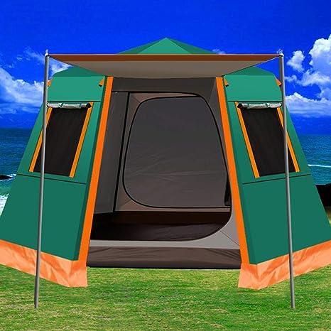 Carpa UV Hexagonal De Aluminio Polo Automático De Camping Al ...