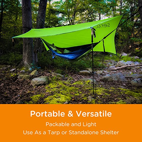 Serac [#1 Hammock and Tent Tarp] Ultralight Hammock Rain Fly and Shelter Perfect for Waterproof Camping, Lightweight Backpacking and Portable for Travel