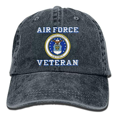 Us Air Force Veteran with USAF Seal Dad Hat Adjustable Denim Hat Classic Baseball Cap